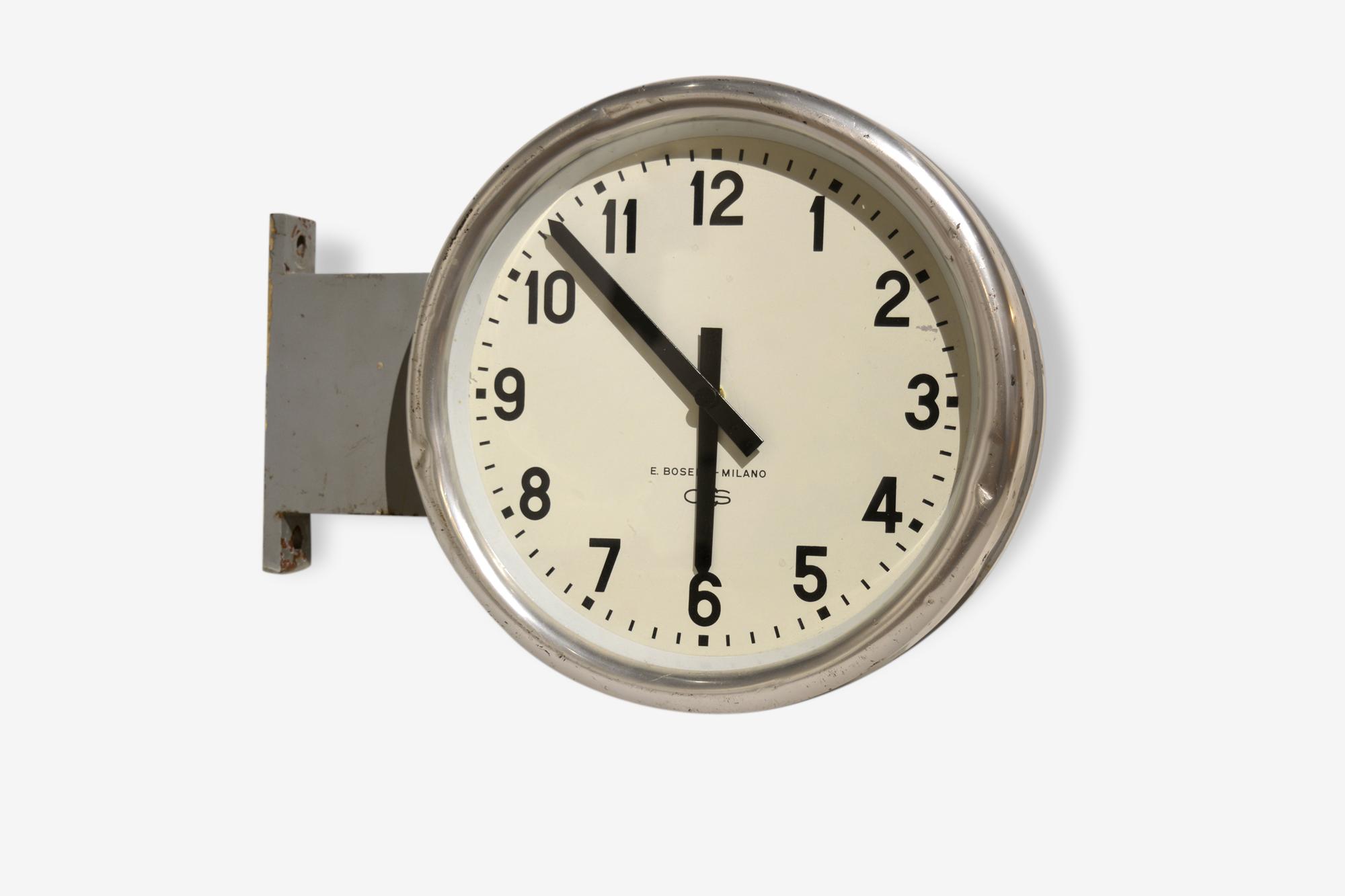 Horloge Double face, design par Gio Ponti pour Boselli Milano, 1936