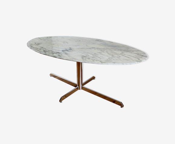 Table De Repas Marbre Florence Knoll Pour Roche Bobois Marbre