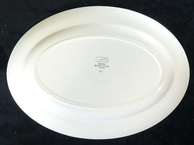 Plat ovale en faience de digoin sarreguemines modele juliette