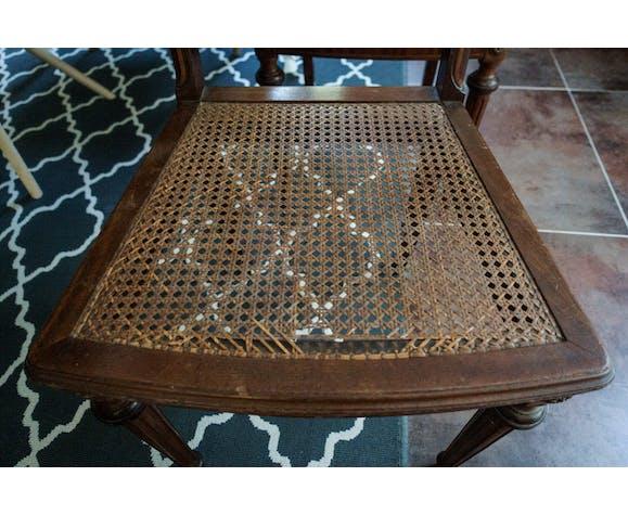Paire de chaises anciennes en cannage