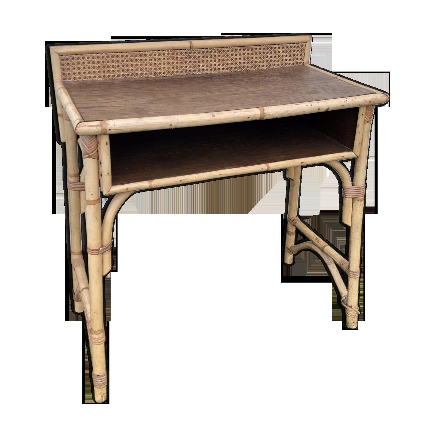 Bureau en rotin vintage rotin et osier bois couleur
