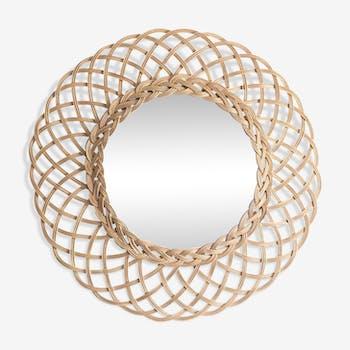 Mirror round sun wicker 50 years 35cm