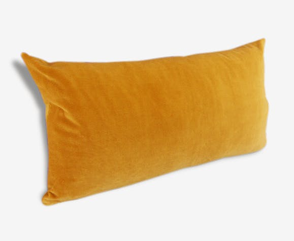 housse de coussin velours 30x55 velours jaune vintage 50409. Black Bedroom Furniture Sets. Home Design Ideas