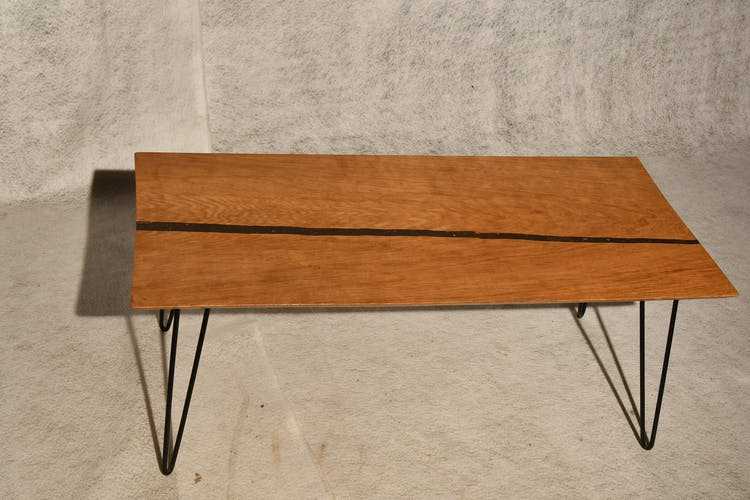 60s wood lounge table