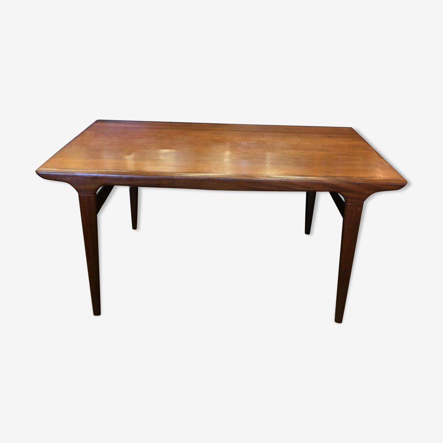 Table scandinave avec une rallonge de Johannes Andersen