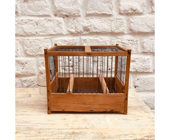 Paire de cage à oiseau vintage