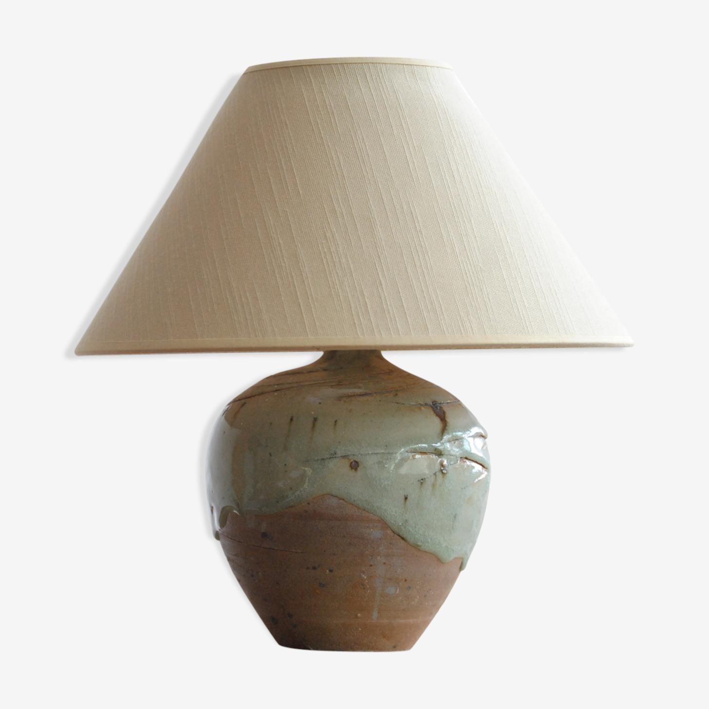 Pied de lampe en grès