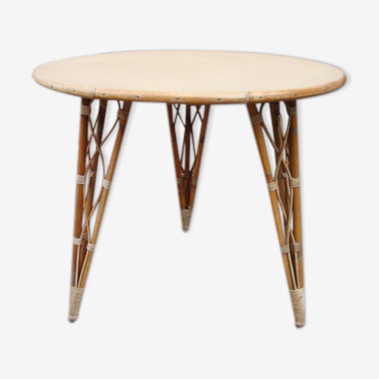 Table ronde rotin