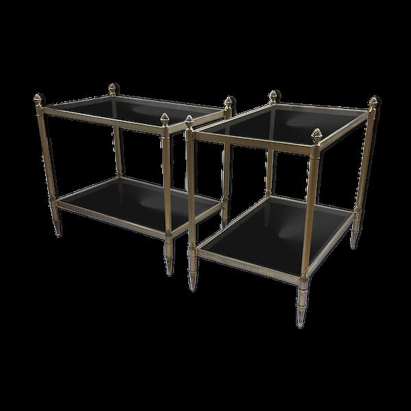 Paire de consoles bronze laitonné