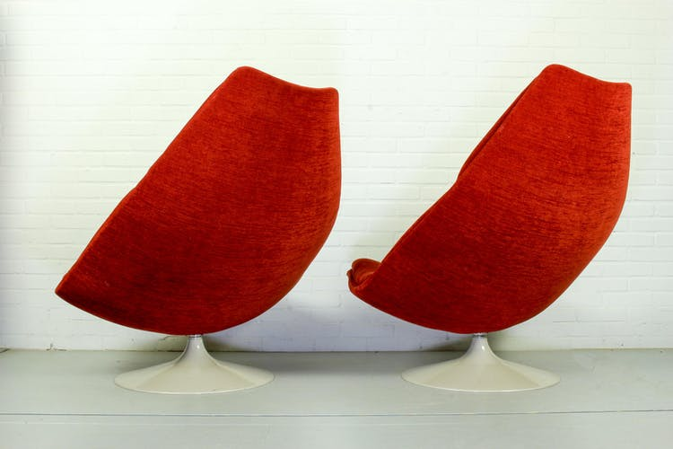 Ensemble de 2 fauteuils vintage modèle F510 de Geoffrey Harcourt pour Artifort, années 1960