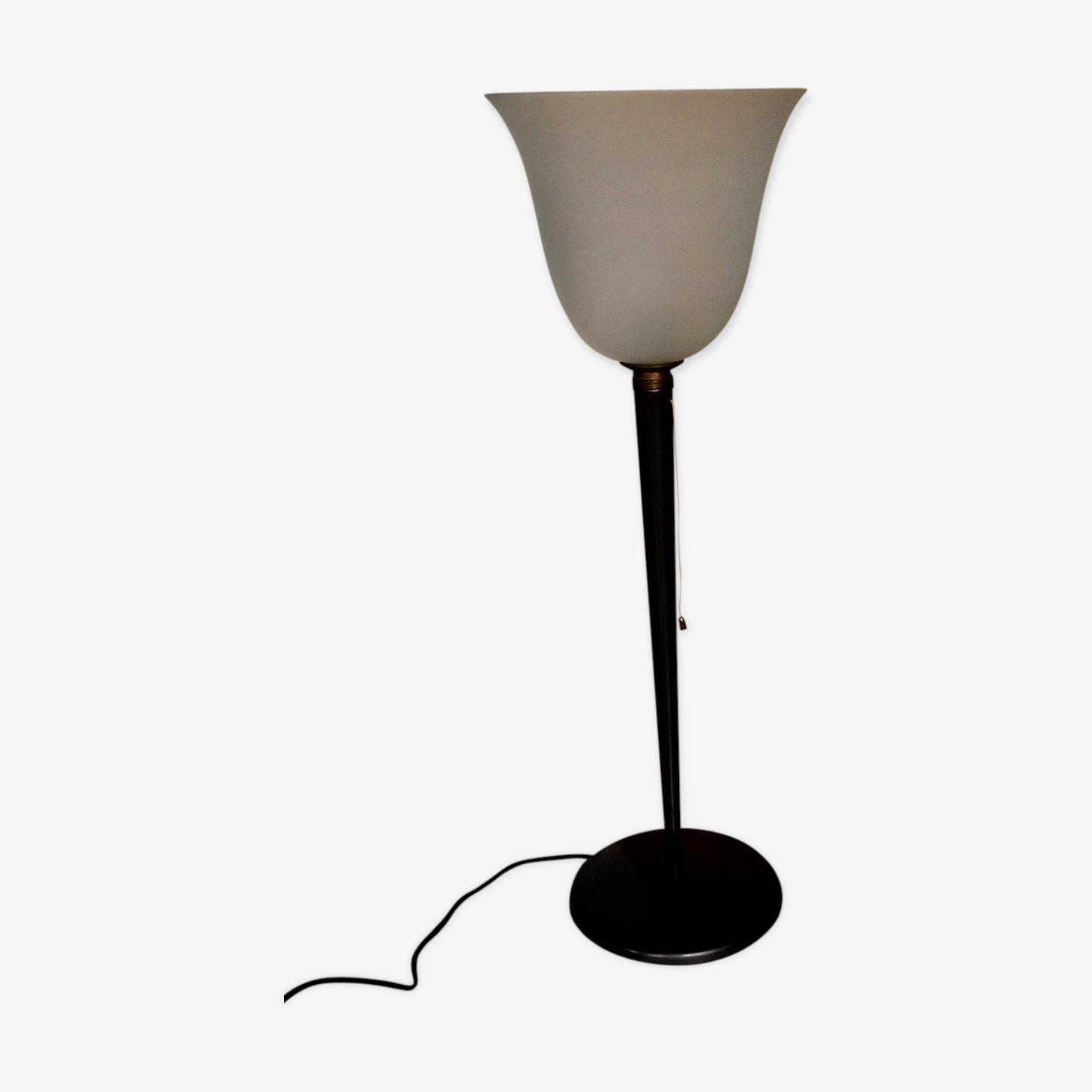 Lampe Mazda Tulipe Art Deco Metal Gris Art Deco 78fa9yi