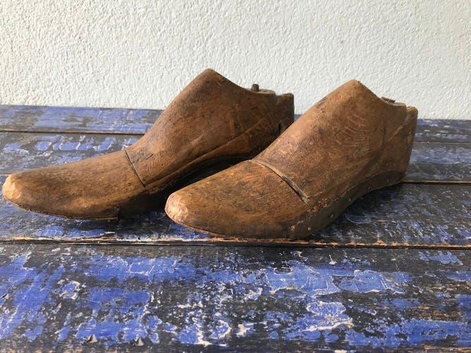 Ancienne paire de formes à chaussures