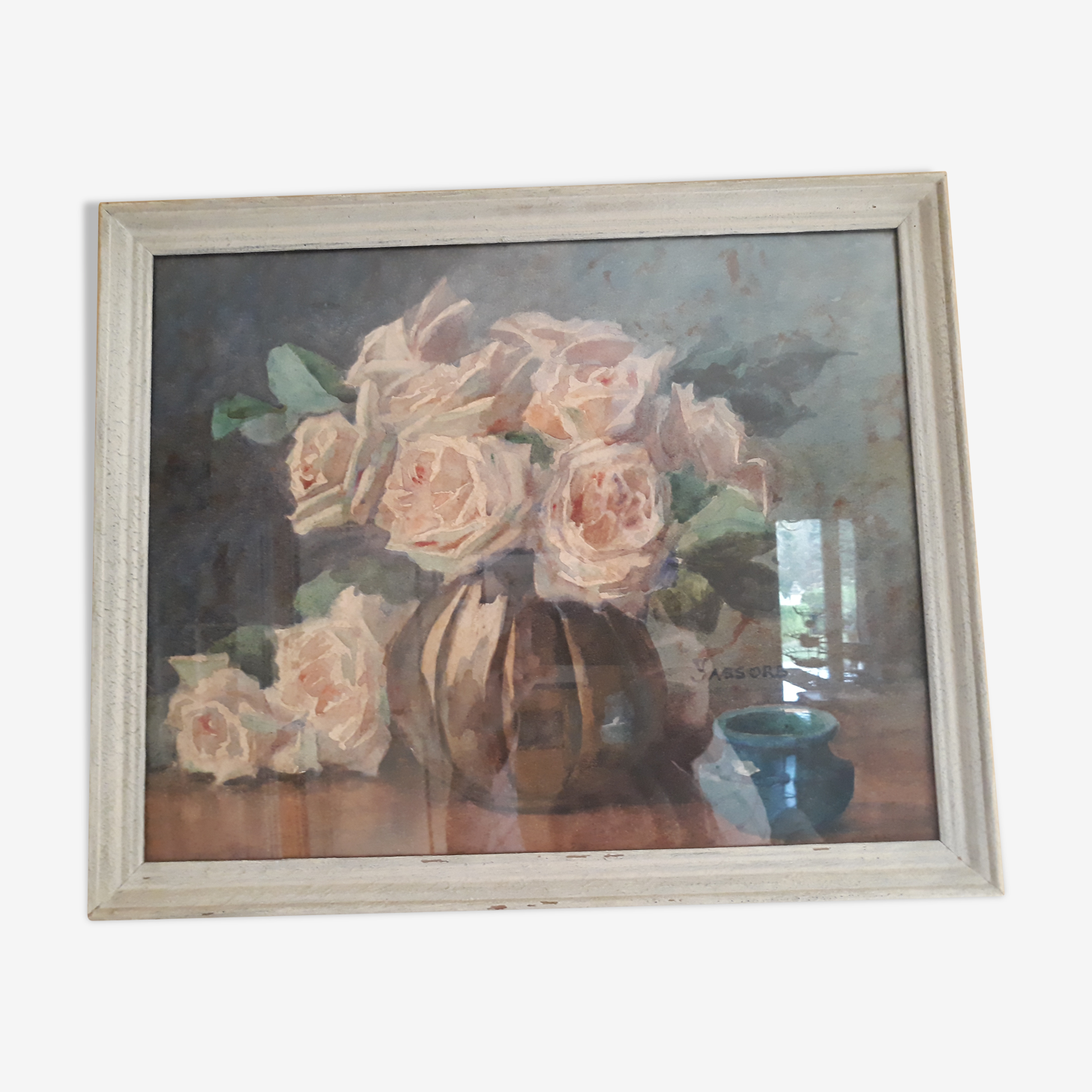 Aquarelle bouquet de roses