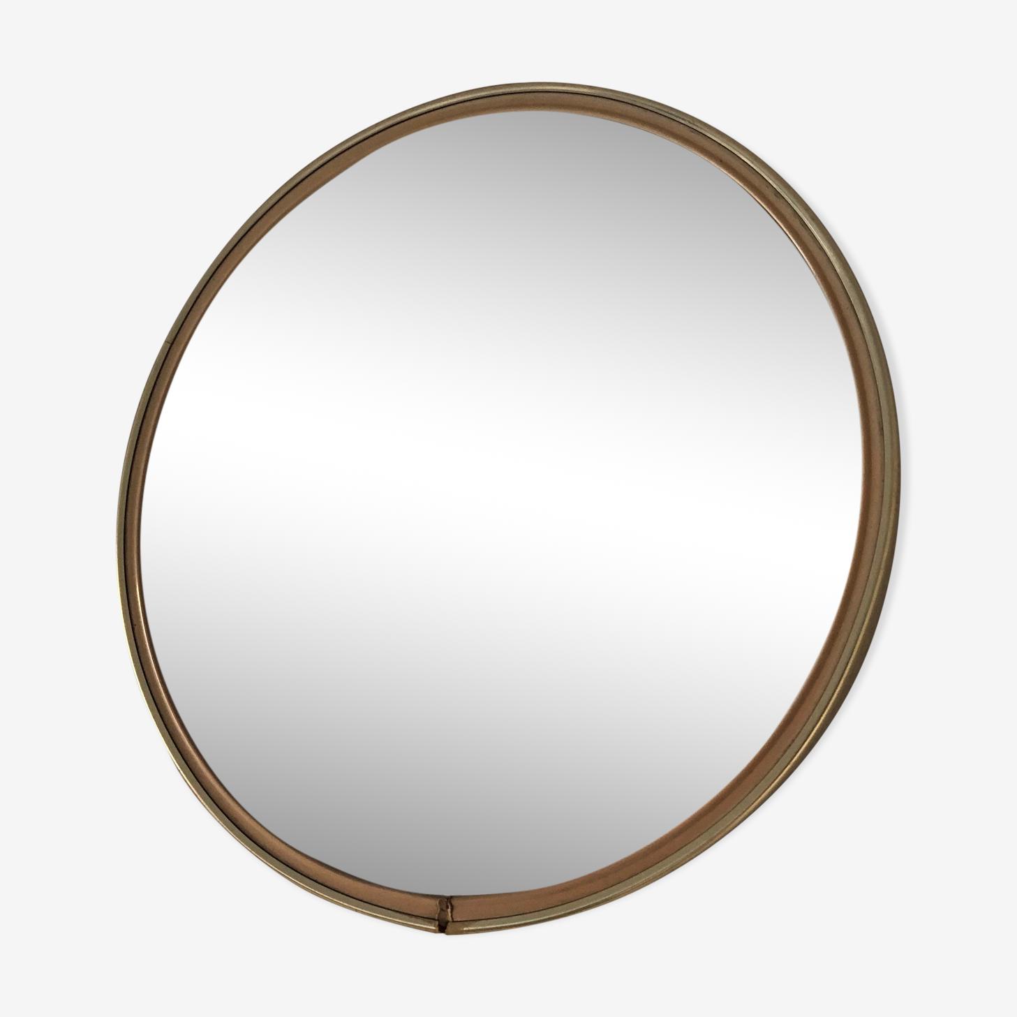 Miroir rétroviseur rond 29x29cm 1960