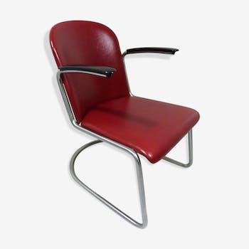 Red Chair model 413 W.H. Gispen