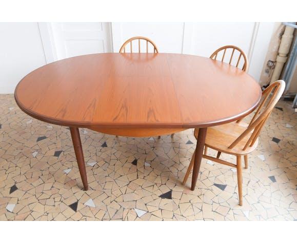 Table ronde Gplan en teck
