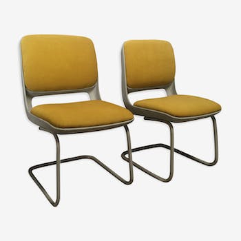 "Pair armchairs chauffeurs ""Luge"" vintage 60-70 years"