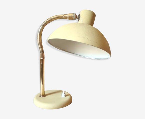 Lampe de bureau articulée années 50 métal jaune vintage bxvhqao