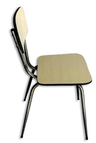 Chaise en formica années pieds compas 60