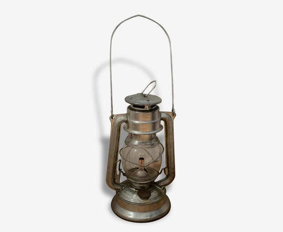 Lampe tempête à pétrole Meva n° 864 - metal - silver (Color) - good  condition - industrial - 70114