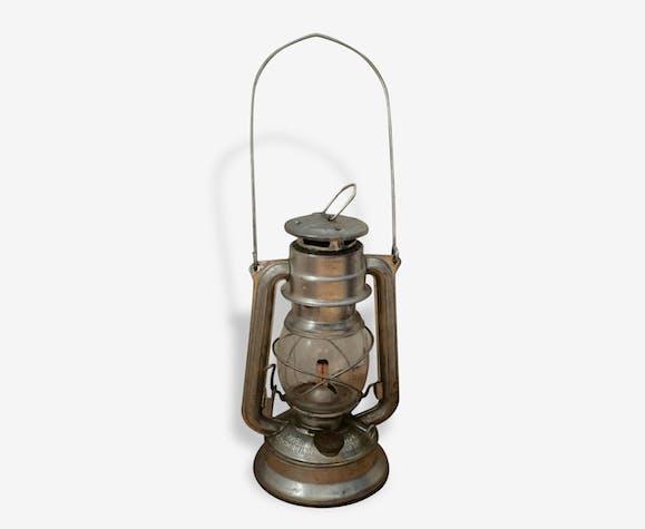 lampe temp te p trole meva n 864 metal silver color industrial 70114. Black Bedroom Furniture Sets. Home Design Ideas