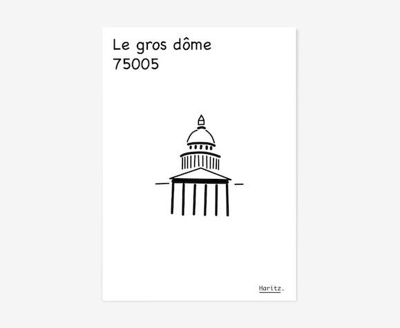 """Illustration, Paris """"Panthéon"""""""