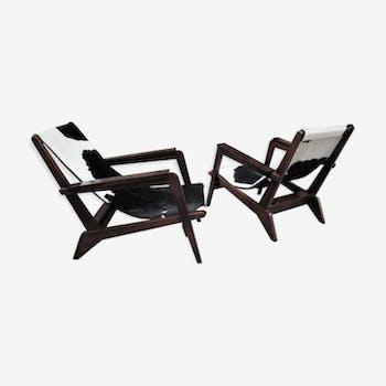 Paire de fauteuils design 1940 Grenoble