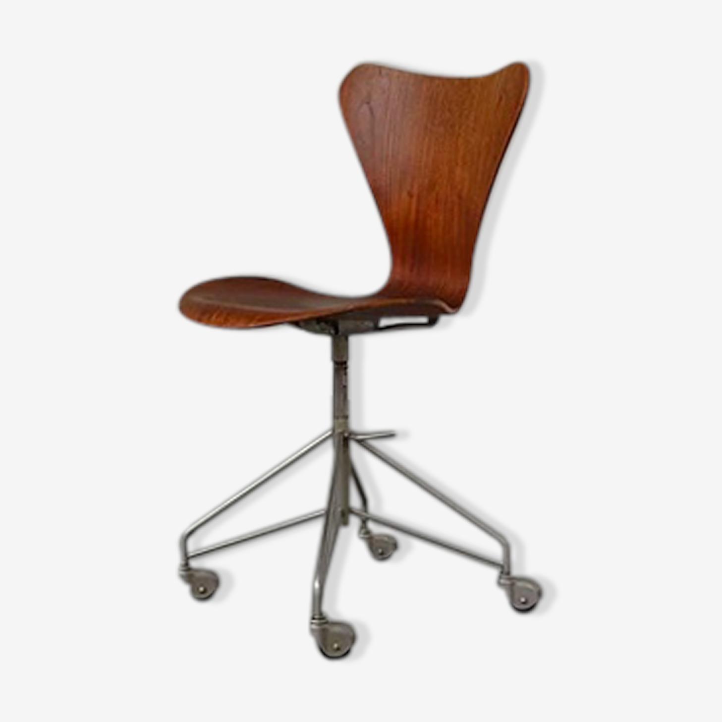 Chaise De Bureau Jacobsen Bois Materiau Marron Design Wsu98q2