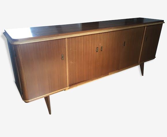 Buffet Enfilade Vintage Année 50 60 Wood Vintage 84673