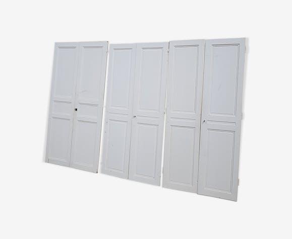 3 paires de portes de placard en chene