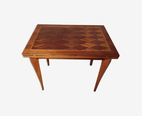 Table salle manger extensible porte feuille bois et placage art d co bois mat riau bois - Porte salle a manger ...