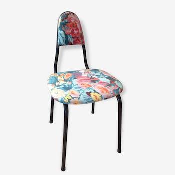 Chaise 1950 fleuri d'aquarelle