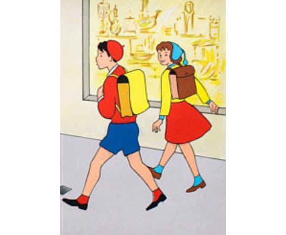 """Poster """"Traffic Scene"""" Verkehrsbilder 1962"""