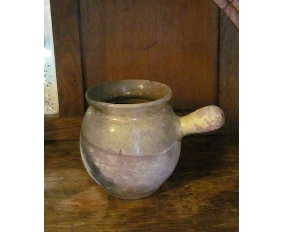 Toupin - pot en terre vernissée - Art populaire - Sud de la France