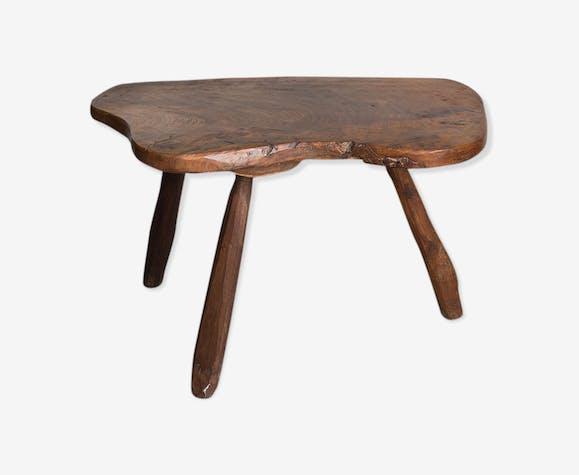 Tripod raw wood bass table