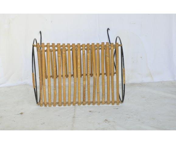 Porte-revues bambou fer forgé