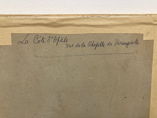"""Huile sur carton """"la côte d'opale"""""""