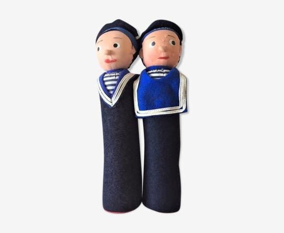 Deux quilles marins matelots France vintage en tissu
