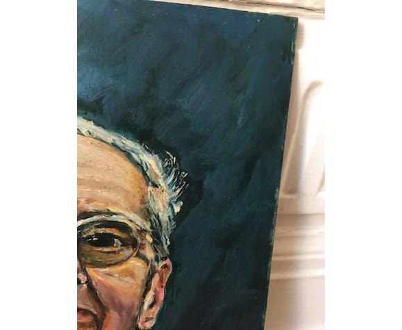 Portrait huile signé