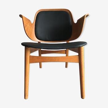 Hans Olsen lounge shell chair model 107 for Bramin Møbler, Denmark, 1950's