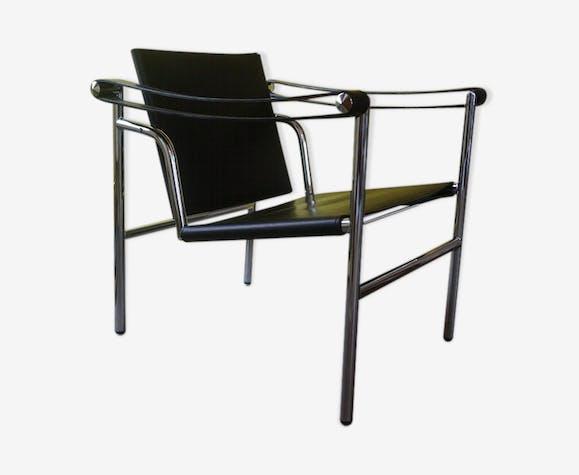 Fauteuil en cuir design 1980