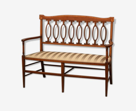 Sofa élégant édwardien en acajou