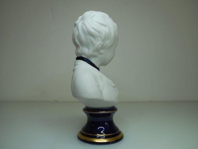 Buste Alexandre Brongniart biscuit d'apres Houdon