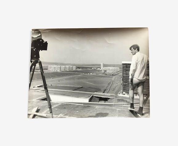 "Original Photo Filming ""The Man of Rio"" Jean-Paul Belmondo"