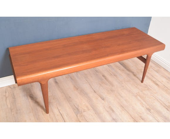 Restored Teak 1960s Danish Long Coffee Table