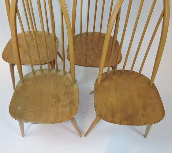 Ensemble de 4 chaises de salle à manger de Lucian Ercolani, des années 1960