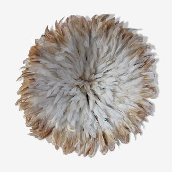 Juju hat white contour 35 cm beige