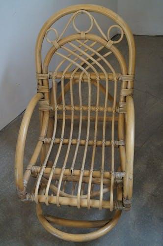 Rocking chair 1960 in rattan