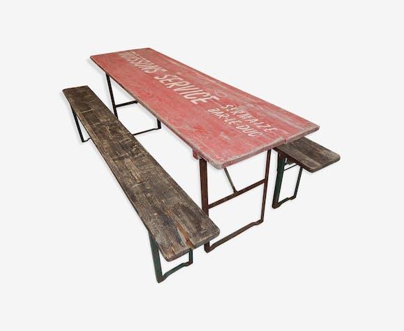 Et Pliable Set 2 Grande Buvette Bancs Table Boismatériau BxtdhrCosQ