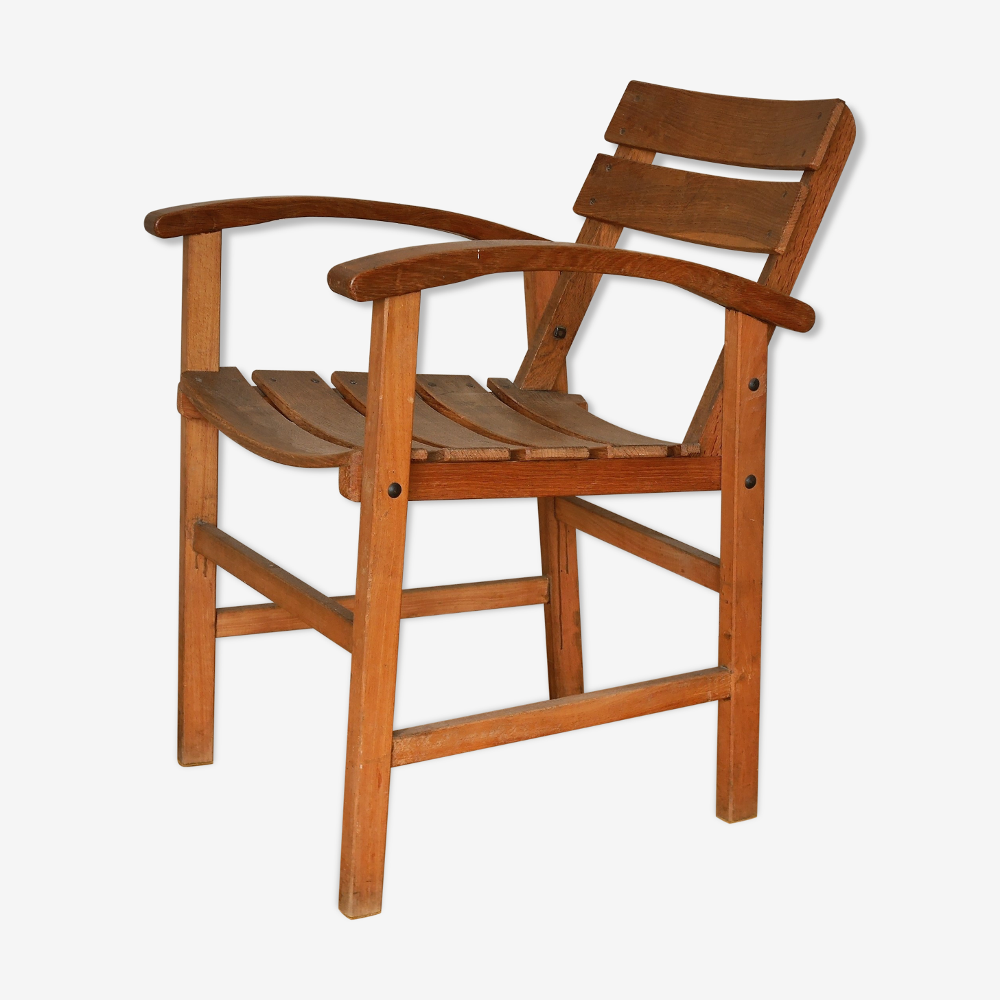 Solid oak armchair from the 40/50s